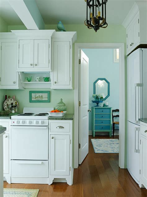 Small Lake Cottage with Turquoise Interiors - Home Bunch