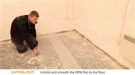 How To Apply A Sheet Of DPM (Damp Proof Membrane) - YouTube