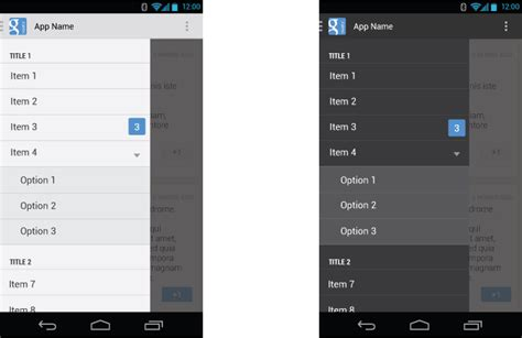 Android navigation drawer with section - Stack Overflow