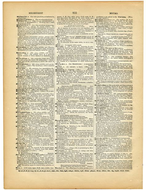 5 Printable Vintage Dictionary Pages! - The Graphics Fairy