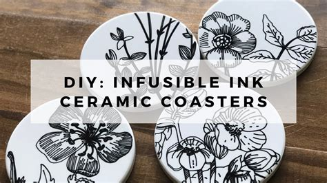 Infusible Ink Ceramic Coasters // Cricut Infusible Ink