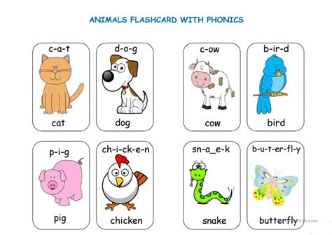 Printable Picture Cards For Phonics | Printable Card Free