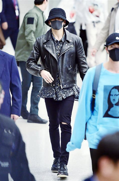 BTS JUNGKOOK all black airport outfit > Style Stacker