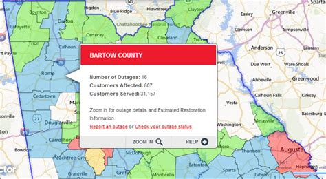 Georgia Power Outage map shows over 200,000 affected in