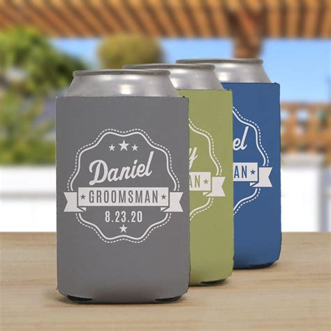 Personalized Groomsmen Can Cooler   GiftsForYouNow