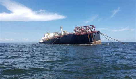 Guyana's CDC closely monitoring sinking oil tanker near