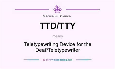 What does TTD/TTY mean? - Definition of TTD/TTY - TTD/TTY