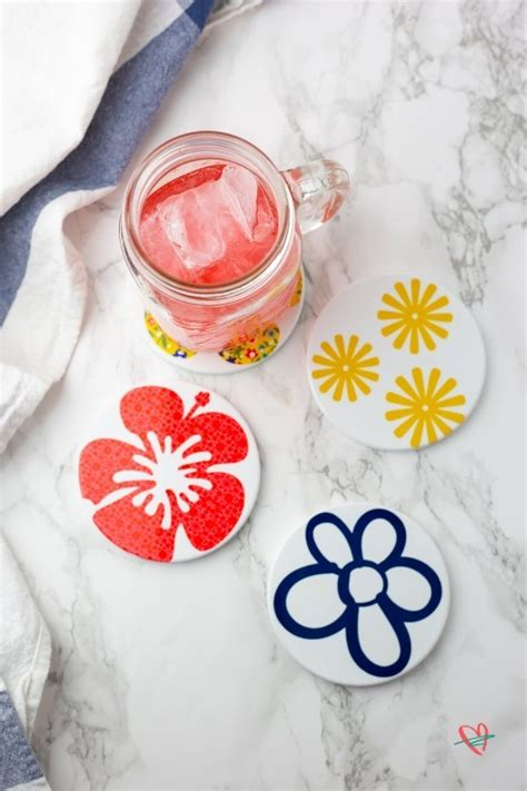 Infusible Ink Flower Coasters - Easy Cricut Project
