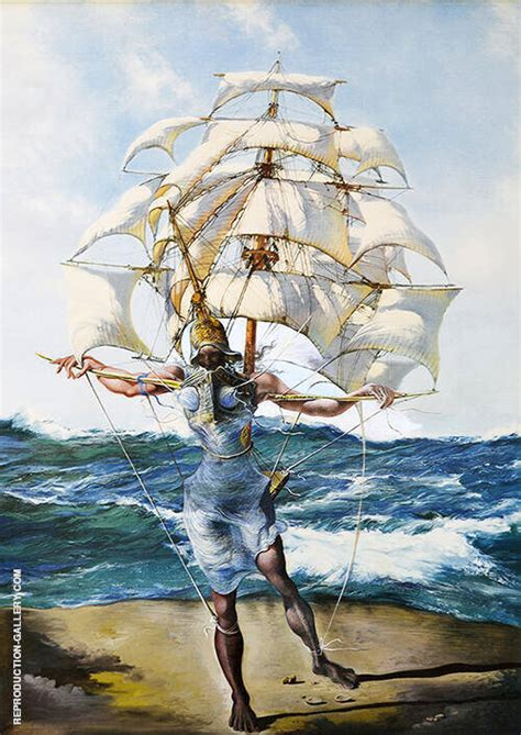 The Ship Painting By Salvador Dali - Reproduction Gallery