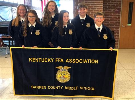 2019-2020 FFA Officers Elected - Barren County Middle School