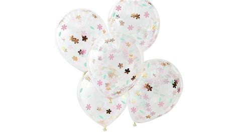 Buy Ginger Ray Floral Confetti Balloons | Helium balloons