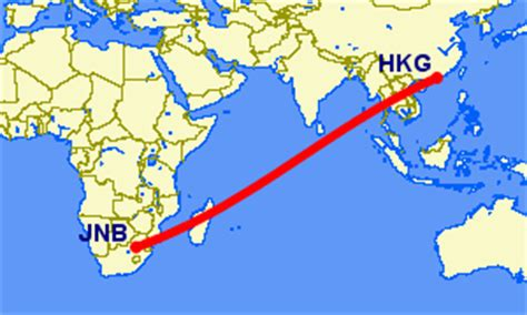 Cathay Pacific Flights from Johannesburg