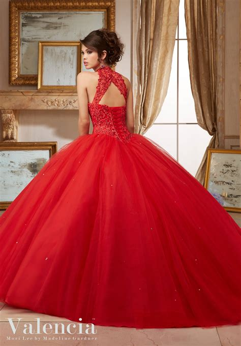 Tulle Ball Gown Quinceanera Dress   Style 60004   Morilee