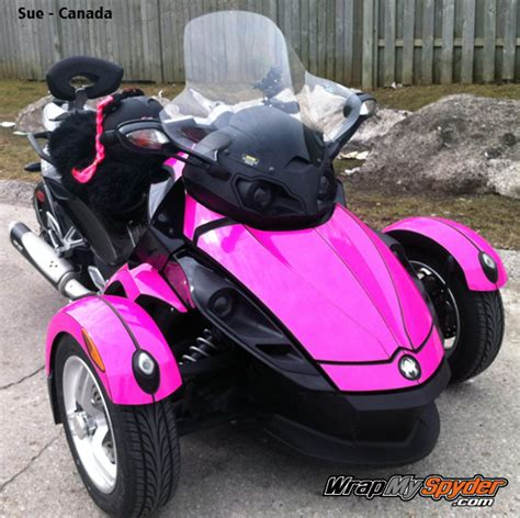 Solid Pink Graphics Kit For Spyder Motorcycles