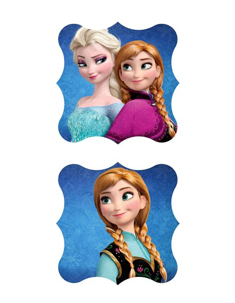 Free Frozen Party Printable Package - Toppers and Labels