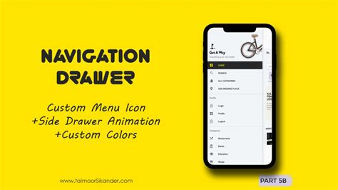 Android Navigation Drawer Menu with side Animation