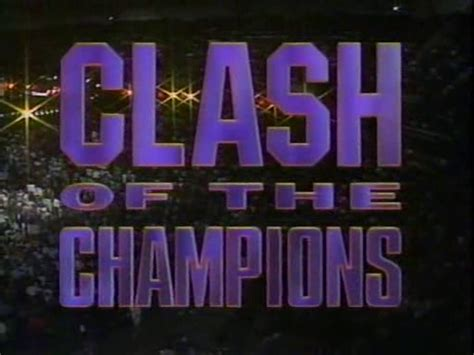 WCW CLASH OF CHAMPIONS Results - The Official Wrestling Museum