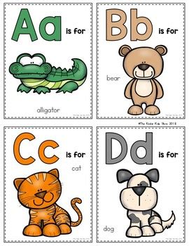 Zoo Animals Alphabet Flash Cards by The Kinder Kids | TpT