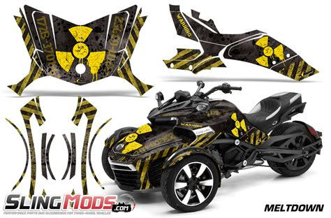 Can-Am Spyder F3 Vinyl Decal Graphics Kit by AMR Racing