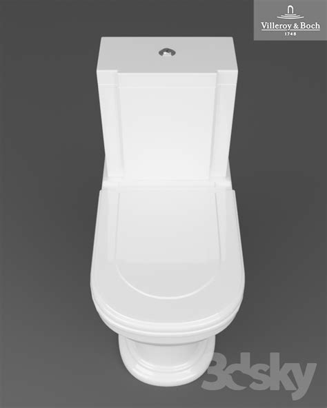 3d models: Toilet and Bidet - Villeroy and Boch Hommage toilet