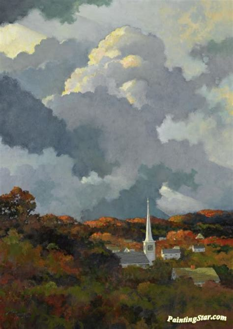 Autumn In New England Artwork by Eric Sloane Oil Painting