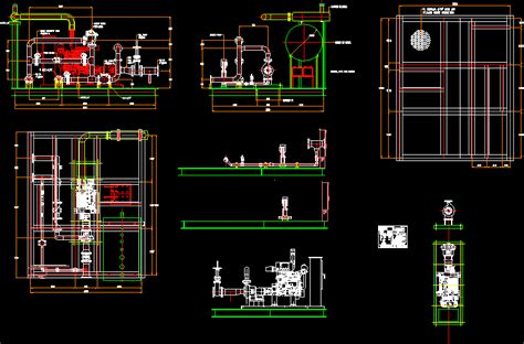 Fire pump system in AutoCAD | Download CAD free (1
