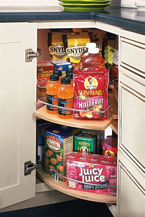 Lazy Susan Cabinet with Pull-out - Diamond Cabinetry