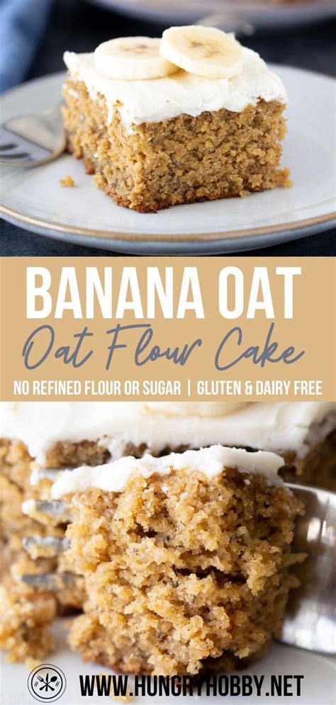 BANANA OAT FLOUR CAKE | GLUTEN-FREE AND DAIRY-FREE in 2020