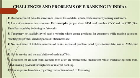 E-Banking Services and Challenges in India