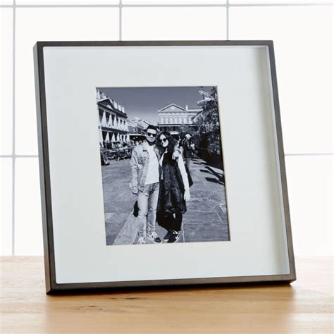 Brushed Antique Bronze 8x10 Frame + Reviews | Crate and Barrel