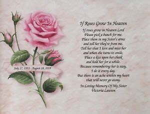 Memory of Sister Gift Loss of Sister Personalized Sympathy